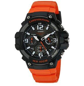 Casio Men's 'Heavy Duty Chronograph' Quartz Stainless Steel and Resin Casual Watch, Color:Orange (Model: MCW-100H-4AVCF) - intl
