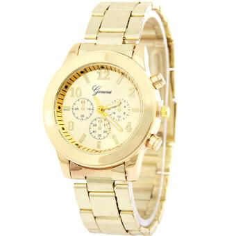 GENEVA Business นาฬิกาข้อมือผู้หญิง สีเงิน สายสแตนเลส รุ่น BB0002 (Gold)