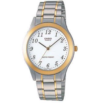 Casio นาฬิกาข้อมือ รุ่น Gent quartz MTP-1128G-7BRDF - white/gold