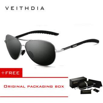 VEITHDIA ผสมคนขับกระจกเลนส์แว่นตาแว่นตากันแดดสนามแม่เหล็กผลักดัน 3088 Eyewears กลางแจ้งชายประมง (สีเทา)
