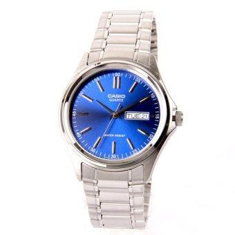 Casio Standard นาฬิกาข้อมือ รุ่น MTP-1239D-2A - สีเงิน/น้ำเงิน image