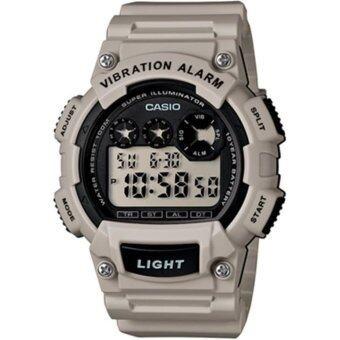 Casio นาฬิกาผู้ชาย สายยาง รุ่น W-735H-8A2VDF - สีเทา/ขาว
