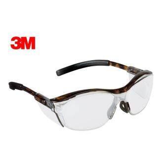 3M แว่นตานิรภัยรุ่น NUVO เลนส์โพลีคาร์โบเนตแบบปรับแสงเข้มได้ เพิ่มกรอบกันลม กันการเกิดฝ้า กรอบลาย (เลนส์เทา)