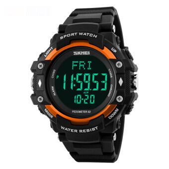 2559 คุณภาพสูง SKMEI 1180 มัลติฟังก์ชั่นเครื่องกีฬาเครื่องวัดระยะทางเดินนาฬิกาอัตราหัวใจ (ส้ม)