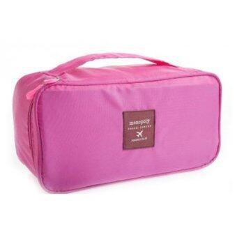 Giftshopdesign กระเป๋าใส่ชุดชั้นใน สำหรับเดินทาง - สีชมพู