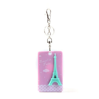 Eiffel Tower Square Bus Card Sleeve Purple