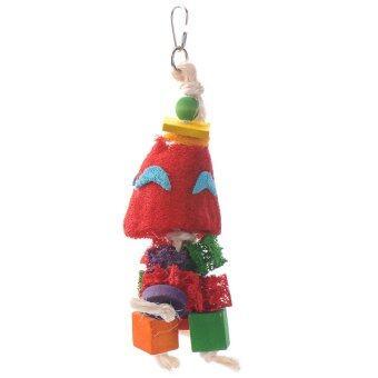 ใหม่ของเล่นนกตามธรรมชาติเสือ loofah ดอกพีโอะนินกแก้วนกปีนเล่นแทะข้าวของ (image 2)
