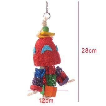 ใหม่ของเล่นนกตามธรรมชาติเสือ loofah ดอกพีโอะนินกแก้วนกปีนเล่นแทะข้าวของ (image 1)