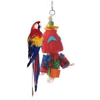 ใหม่ของเล่นนกตามธรรมชาติเสือ loofah ดอกพีโอะนินกแก้วนกปีนเล่นแทะข้าวของ (image 0)