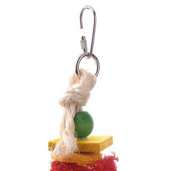 ใหม่ของเล่นนกตามธรรมชาติเสือ loofah ดอกพีโอะนินกแก้วนกปีนเล่นแทะข้าวของ (image 3)