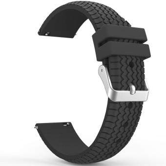 Miimall Soft Silicone Replacement Sport Watch Band Strap for Samsung Gear S3 Frontier / S3 Classic Smart Watch (Black) - intl