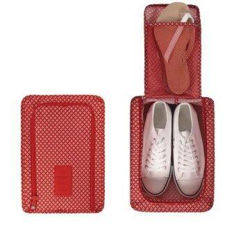 H.O.P. กระเป๋ารองเท้าพับได้ ( Classic Red )