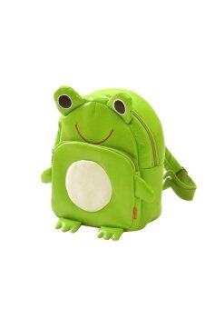 PU Leather Cartoon Animal School Bag Schoolbag Backpack for 1-8 Years Old Baby Frog
