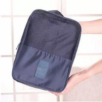 BeckyCat กระเป๋าใส่รองเท้า Ver.2 กันน้ำใส่ได้ถึง3 คู่ สีเทา (image 1)