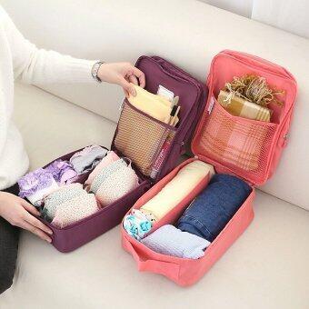 BeckyCat กระเป๋าใส่รองเท้า Ver.2 กันน้ำใส่ได้ถึง3 คู่ สีเทา (image 3)