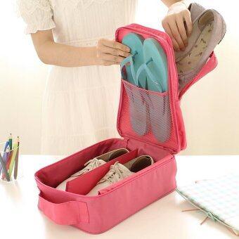 BeckyCat กระเป๋าใส่รองเท้า Ver.2 กันน้ำใส่ได้ถึง3 คู่ สีเทา (image 2)