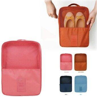 BeckyCat กระเป๋าใส่รองเท้า Ver.2 กันน้ำใส่ได้ถึง3 คู่ สีเทา (image 4)