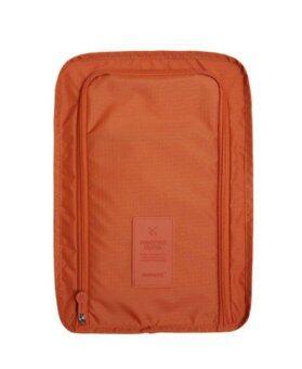 MONOPOLY กระเป๋าใส่รองเท้า ขนาดพกพา รุ่น MN-404 ป้ายซิลิโคน - สี Dark Orange