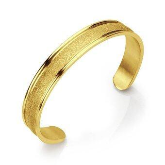 555jewelry กำไล สแตนเลสสตีล ดีไซน์เรียบหรู (สี ทอง)