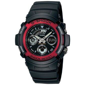 Casio G-shock นาฬิกาข้อมือ รุ่น AW-591-4 ( Black-Red ) image