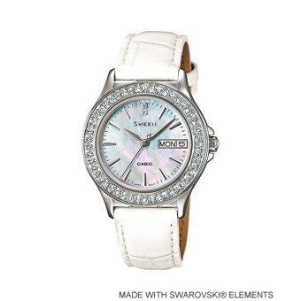 Casio Sheen Analog นาฬิกาข้อมือ รุ่น SHE-4800L-7A (White)