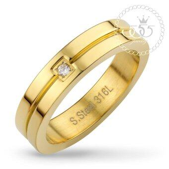 555jewelry แหวน รุ่น MNC-R562-B (Yellow Gold)