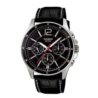 Casio นาฬิกาข้อมือ รุ่น Gent sport MTP-1374L-1AVDF - สีดำ