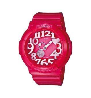 Casio Baby-G นาฬิกาข้อมือผู้หญิง รุ่น BGA-130-4B - สีชมพู