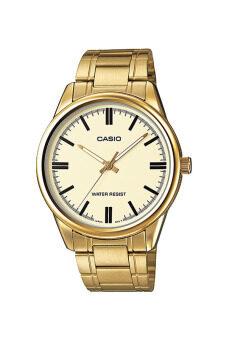 Casio Standard นาฬิกาข้อมือสุภาพบุรุษ สายสแตนเลส รุ่น MTP-V005G-9AUDF - สีทอง image