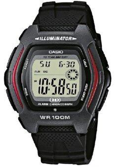 Casio นาฬิกาข้อมือชาย สายเรซิ่น รุ่น HDD-600-1AV - สีดำ