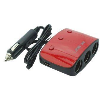 SAST AY-T11 by 9FINAL ขยายช่องจุดบุหรี่ 3 ช่อง พร้อม usb charger 2 port พร้อมระบบป้องกันการจ่ายไฟ (สีแดง/ดำ) (image 2)