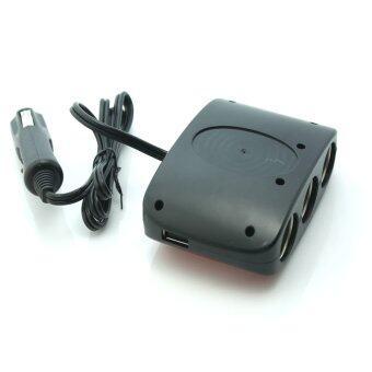 SAST AY-T11 by 9FINAL ขยายช่องจุดบุหรี่ 3 ช่อง พร้อม usb charger 2 port พร้อมระบบป้องกันการจ่ายไฟ (สีแดง/ดำ) (image 4)
