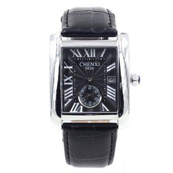 Sevenlight Date Quartz นาฬิกาข้อมือผู้ชาย ระบบวันที่ - GP9228 (Black/Silver)