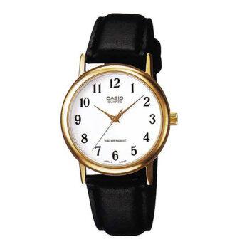 Casio Standard นาฬิกาข้อมือผู้ชาย สายหนัง boy size Gent quartz รุ่น MTP-1095Q-7B - สีทอง/ขาว