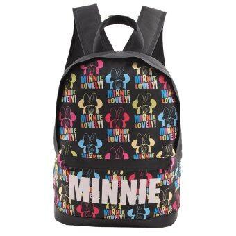Disney Mickey Mouse กระเป๋าเป้ กระเป๋านักเรียนสะพายหลัง (สีดำ)