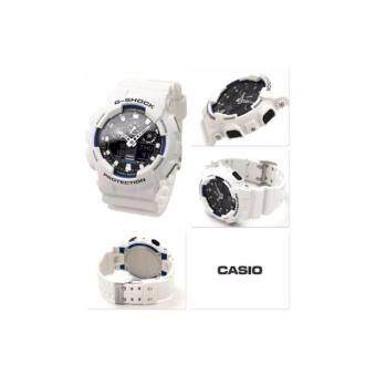 Casio G-Shock นาฬิกาข้อมือผู้ชาย สายเรซิ่น รุ่น GA-100B-7A - สีขาวประกัรcmg image