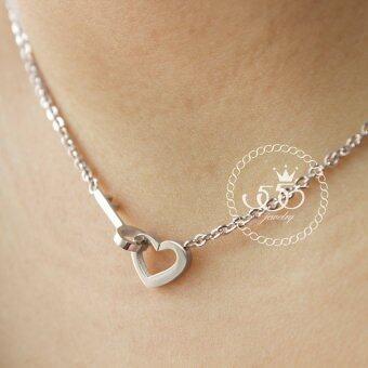 555jewelry Stainless Steel 316L Pendant with chain จี้พร้อมสร้อย รุ่น MNC-N164 มีสามสีให้เลือกค่ะ (Silver),(Pink Gold),