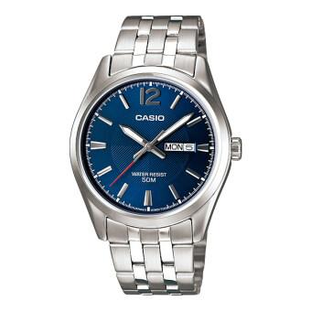 Casio Standard นาฬิกาข้อมือสุภาพบุรุษ สายสแตนเลส รุ่น MTP-1335D-2AVDF - สีน้ำเงิน image