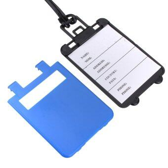 Plastic Luggage Tag Suitcase Baggage Label Name Address Travel Identifier Blue