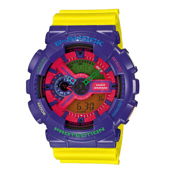 Casio G-Shock Men's Yellow Resin Strap Watch GA-110HC-6ADR