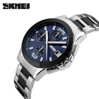 SKMEI 2016 Top Brand New Arrival Men Business Luxury Wristwatch Six Pins Quartz Watch 30M Waterproof Dress Watches Stopwatch - intl
