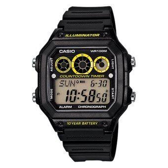 Casio Standard นาฬิกาข้อมือชาย Digital รุ่น AE-1300WH-1AV - Black/Yellow