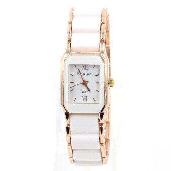 Sevenlight Sevenlight นาฬิกาข้อมือผู้หญิง นาฬิกาแฟชั่น - BS8017 (White/Pink Gold)