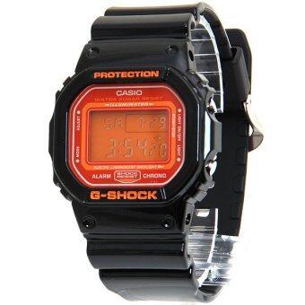Casio G-SHOCK นาฬิกาข้อมือผู้ชาย รุ่น DW-5600CS-1DR - สีดำ/ส้ม