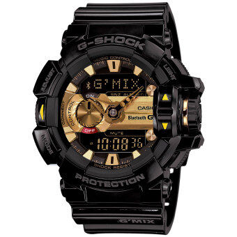Casio G-Shock GBA400-1A9 Black and Gold Bluetooth Music Men's Watch
