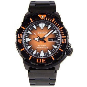 Seiko Monster The Fang นาฬิกาสุภาพบุรุษ สายสแตนเลส รุ่น SRP311K1 - Orange/Black