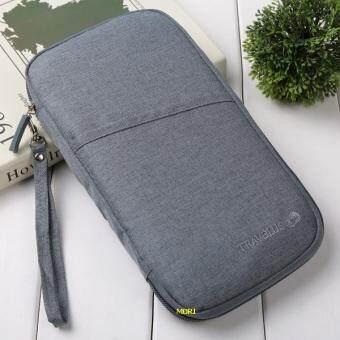 Mori กระเป๋าใส่พาสปอร์ต กระเป๋าใส่หนังสือเดินทาง หนังสือวีซ่า พาสปอร์ต สมุดบัญชี นามบัตร Travel Visa Passport Bag Passport & Cards Multifunction Bag (Grey / สีเทา)