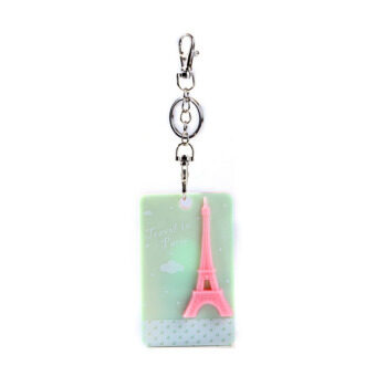 Eiffel Tower Square Bus Card Sleeve Beige