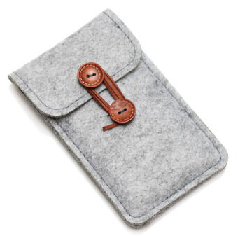 Vanker Fashion Case Cover Wool Felt Wallet Phone Bag Pouch for iPhone 6/6s 4.7 Color: Light gray(Light gray)