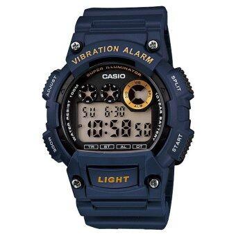 Casio Standard นาฬิกาข้อมือ รุ่น W-735H-2AVDF สีน้ำเงิน